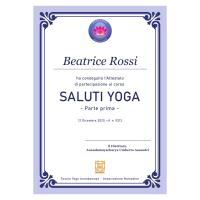 corso saluti Yoga icona attestato